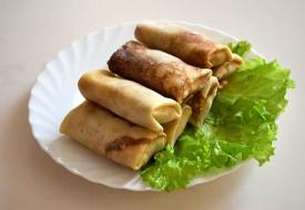 Блинчики фаршированные с мясом и рисом